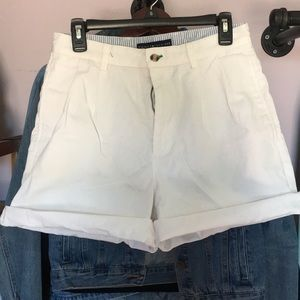 Tommy Hilfiger white high waisted shorts
